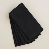 Black Buffet Napkins, Set of 6 - World Market