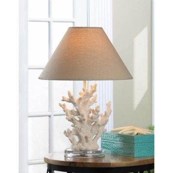 Stunning White Coral Table Lamp