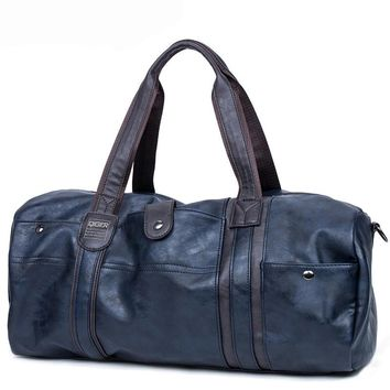 Luxury Leather Men Travel Bag Carry on Luggage Bag Men Duffel Classic Portable Bag Travel Tote Large Weekend Overnight  Bag