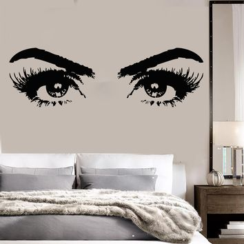 Vinyl Wall Decal Woman Eyes Beauty Salon Girl Room Makeup Stickers Unique Gift (ig3648)