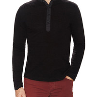 Cadet Men's Knit Henley - Black -