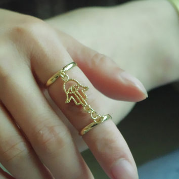Beach Holiday  Fatima's Hand Rings Tail Ring Gift-221