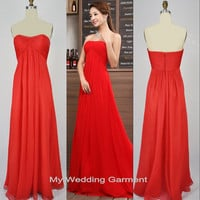 A-line Sweetheart  Floor-length Chiffon Prom/Evening/Party/Homecoming/Bridesmaid/Cocktail/Formal Dress