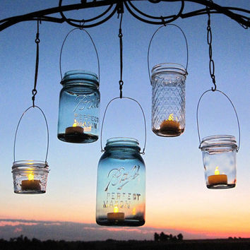 Hanging Lanterns 20 DIY Mason Jar Hangers Outdoor Wedding Mason Jar Candle Holders DIY  (No Jars)