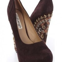 Brown  Suede Leather Upper Beaded Wedges Platform @ Amiclubwear Wedges Shoes Store:Wedge Shoes,Wedge Boots,Wedge Heels,Wedge Sandals,Dress Shoes,Summer Shoes,Spring Shoes,Prom Shoes,Women's Wedge Shoes,Wedge Platforms Shoes,floral wedges,Fashion Wedge Sho