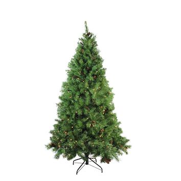 "6.5' x 50"" Pre-Lit Dakota Red Pine Full Artificial Christmas Tree - Clear Lights"