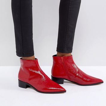 River Island Flat Pointed Toe Ankle Boot at asos.com
