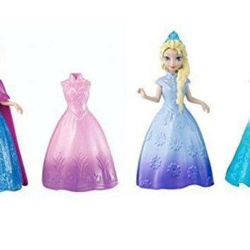 Disney Frozen Princess Anna and Elsa of Arendelle MagiClip Dolls New