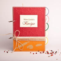 Handmade Recipe Book Personalized Blank Cook book, Recipe Organizer, Recipe Album