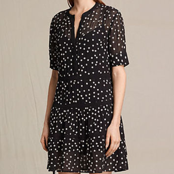 ALLSAINTS UK: Womens Picolina Embroidered Tier Dress (Black)