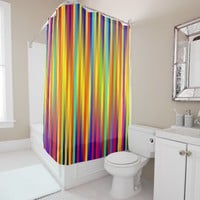 Vibrant Lines 17 Shower Curtain
