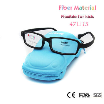 ZBZ New Kids Glasses Frame Girls Boys Fiber Fexible Eyeglass Frames Unbreakable Glass with Strap 47 Size