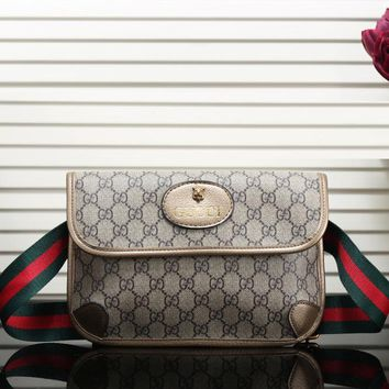 Gucci Women Leather Purse Waist Bag Single Shoulder Bag Crossbody
