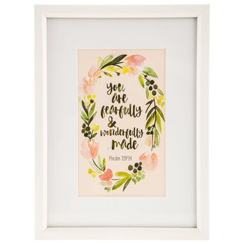 Psalm 139:14 Floral Framed Wall Art | Hobby Lobby | 1293794