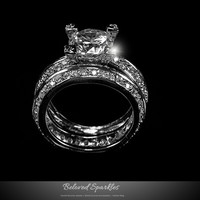 Isabel Vintage Round Cut Engagement and Wedding Ring Set | 7.5 Carat | Cubic Zirconia