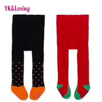 Fashion Fall/winter Christmas Halloween Baby Girl Tights Cotton Red black Tight Dot Tights For 0-2 yrs Newborn Girls Accessories