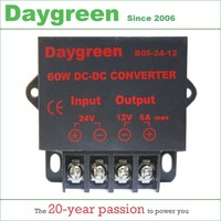 24V to 12V 5A (24VDC TO 12VDC 5AMP) 60W DC DC Converter Regulator Car Step Down Reducer Daygreen CE Certificated