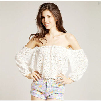 Summer Strapless Lace Tops [4962098692]