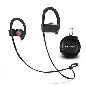 Jpodream Bluetooth Headphones for Running, Noise Cancelling Wireless Sport Earphones with a Running Belt, IPX7 Waterproof, Superb Sound Quality with Deep Bass [New Upgrade]