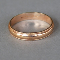 Vintage 10K Gold Filled Wedding Band Uncas Deadstock Bridal Unisex Size 11 // Vintage Designer Jewelry