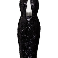Alexa Sequin Halter Lady Dress | Moda Operandi