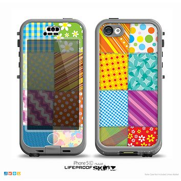 The Patched Various Hot Patterns Skin for the iPhone 5c nüüd LifeProof Case