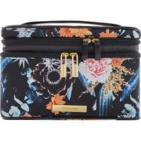 Tartan + Twine Floral Knit Double Zip Train Case