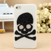 iPhone 5  4S 4G 3GS Black Crystal Skull Hard Protective Case - Apple iPhone Cases - Phone Cases Rhinestones iPhone 5 4S 3GS Cases, Couple Necklaces / Wedding Rings & Uncommon Gift Ideas - Worldwide Shipping