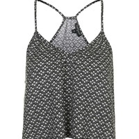Tile Print Strappy Top - Topshop