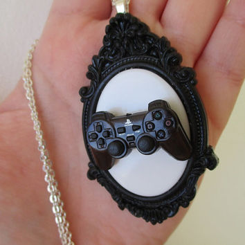 Miniature PS2 Controller Trophy Necklace - Playstation 2 Gear - UNISEX