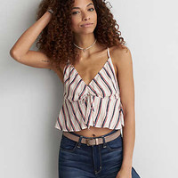 AEO Drawstring Crop Cami , Multi