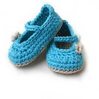 Crochet Pattern Baby Shoes Classic Mary Janes and Ballet slippers - PDF Crochet Pattern N.102