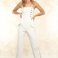 Abott White Jumpsuit: COMING SOON