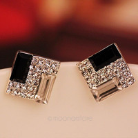 Hot Selling New Fashion Women Lady Elegant Crystal Rhinestone Ear Stud Earrings = 1958464004