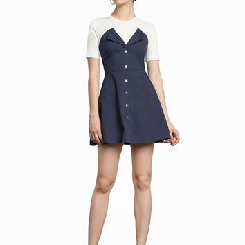 GRETA DENIM SNAP BUTTON DRESS