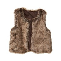 Gap Girls Factory Faux Fur Vest
