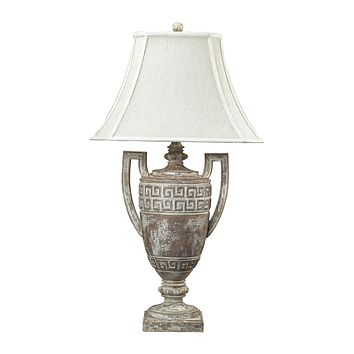 93-9197 Greek Key Table Lamp in Allesandria Finish - Free Shipping!