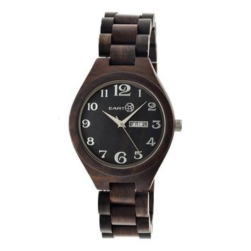 Earth Eco-Friendly Dark Brown Wood Sapwood Watch EW1602