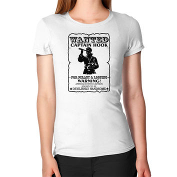 WANTED CAPTAIN HOOK Women's T-Shirt