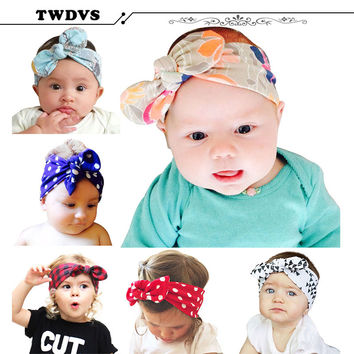 TWDVS Headband Headwear Girl Flower Newborn Baby Infant Toddler Kid Girl Hair Band Christening Elastic Hair Accessories kt-036