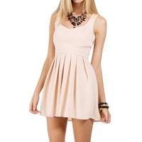 Blush Heart Shape Open Back Dress