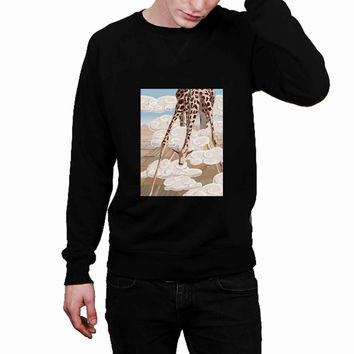 Cute Lovable Vintage Classic Zoo Animal Calf Giraffe 983ab05a-3e43-4610-a990-66bfe2c54e0b - Sweater for Man and Woman, S / M / L / XL / 2XL *02*