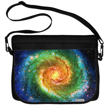 Rainbow Tie Dye Galaxy Neoprene Laptop Shoulder Bag All Over Print