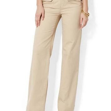 Lauren Ralph Lauren Wide-Leg Herringbone Pants