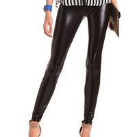 Black Liquid Legging: Charlotte Russe