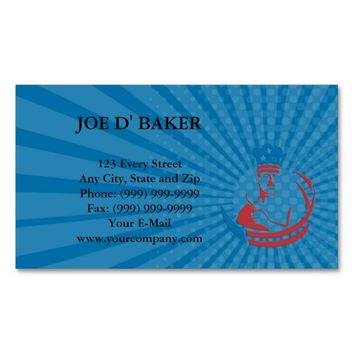 Business card American Chef Baker Cook