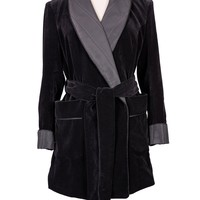 Martha Luxury Velvet and Silk Smoking Jacket