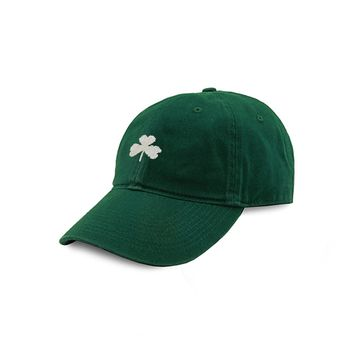 Shamrock Needlepoint Hat in Hunter by Smathers & Branson