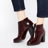 New Look Croc Block Heel Boot