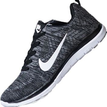 """NIKE"" Women Men Trending Fashion Casual Sports Shoes Grey"